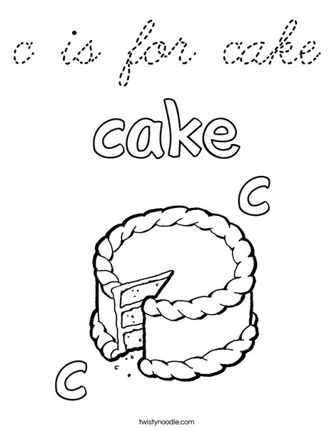 c is for cake Coloring Page
