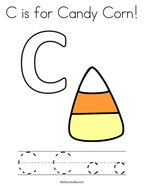 C is for Candy Corn Coloring Page