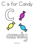 C is for Candy Coloring Page