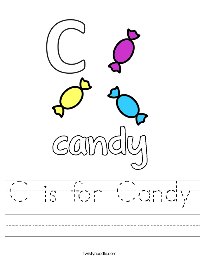 C is for Candy Worksheet