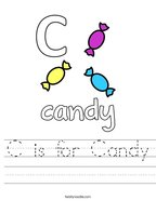 C is for Candy Handwriting Sheet