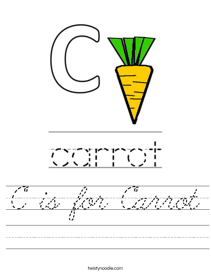 c is for carrot coloring pages - photo #18
