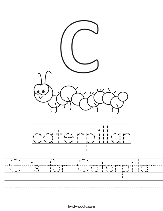 C is for Caterpillar Worksheet