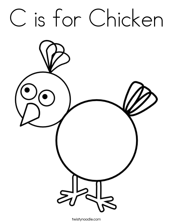 c is for coloring pages - photo #1