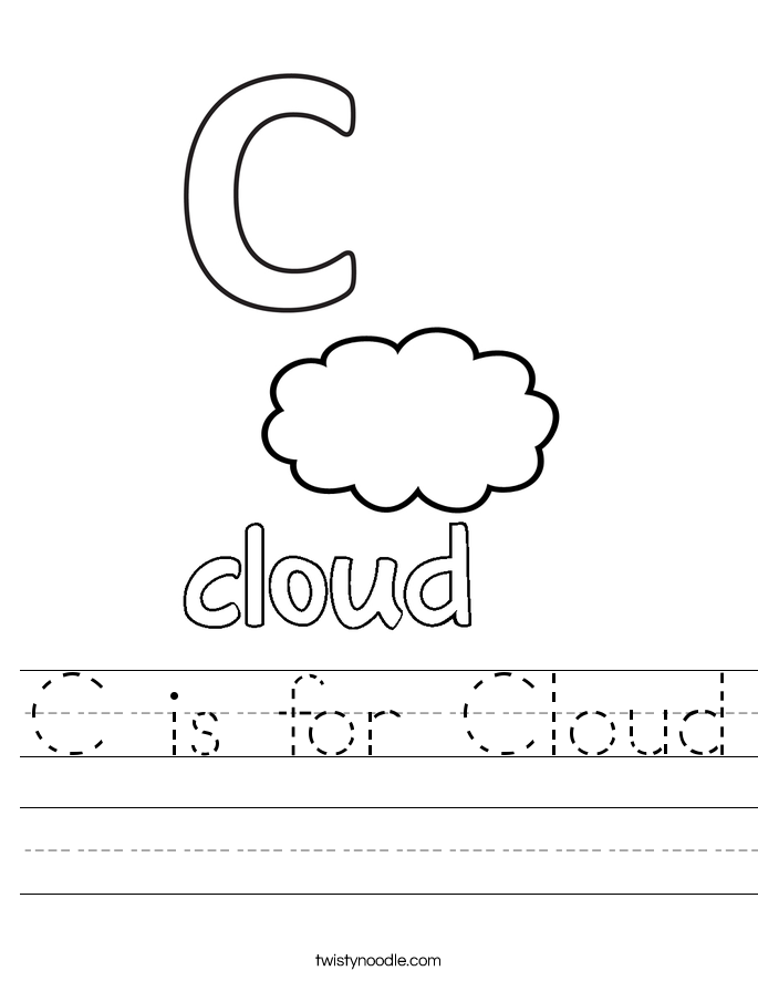 C is for Cloud Worksheet