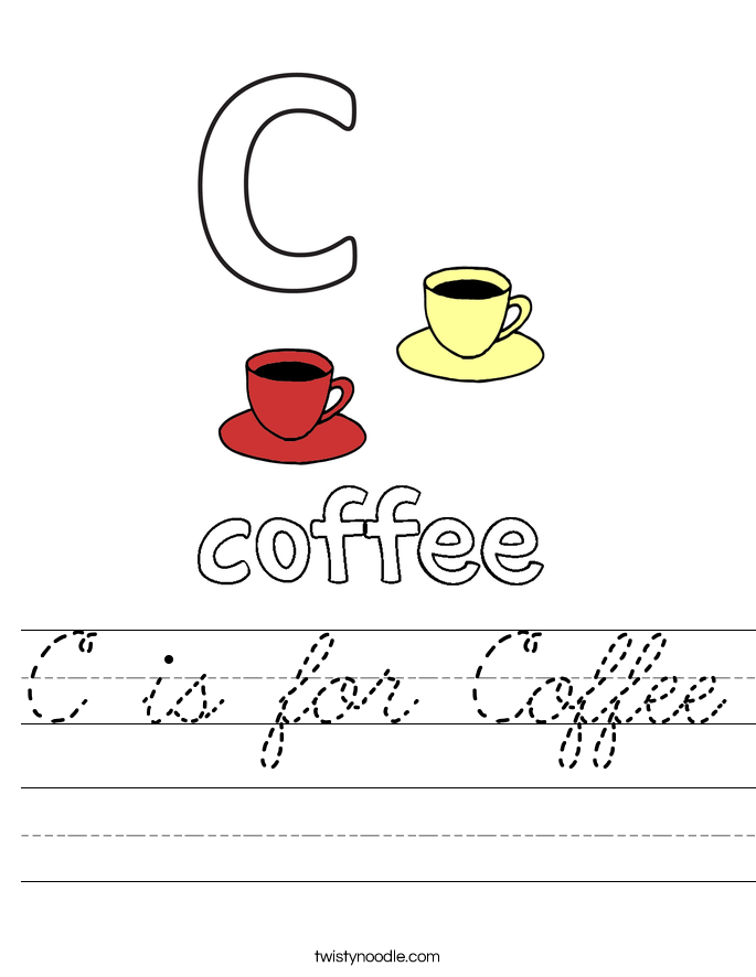 C is for Coffee Worksheet