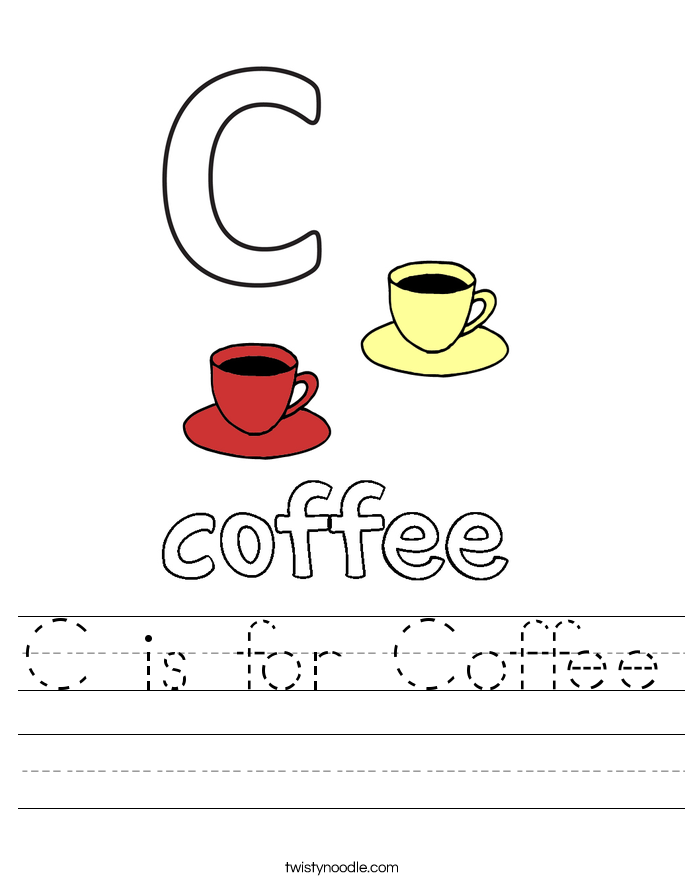 C is for Coffee Worksheet