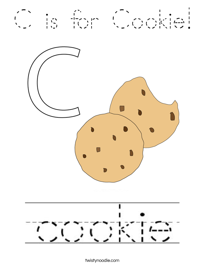 C is for Cookie! Coloring Page