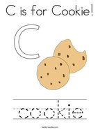 C is for Cookie Coloring Page