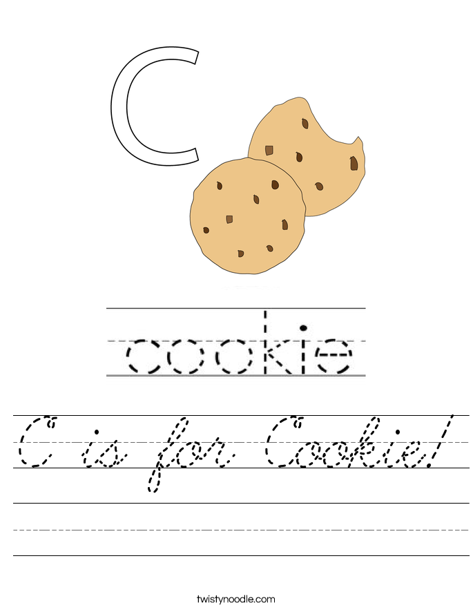 C is for Cookie! Worksheet