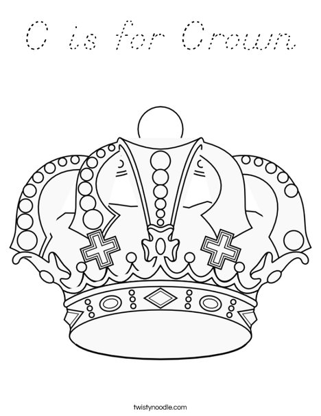 C is for Crown Coloring Page