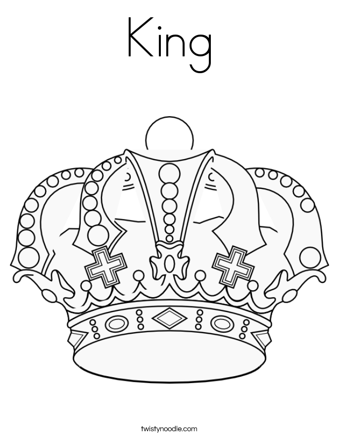 Crowned King David Coloring Page Coloring Pages