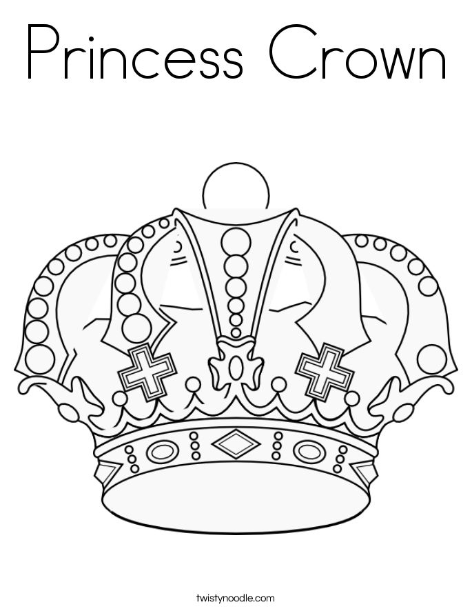 Princess Crown Coloring Page Twisty Noodle Princess Tiara Coloring Pages Free Coloring Sheets