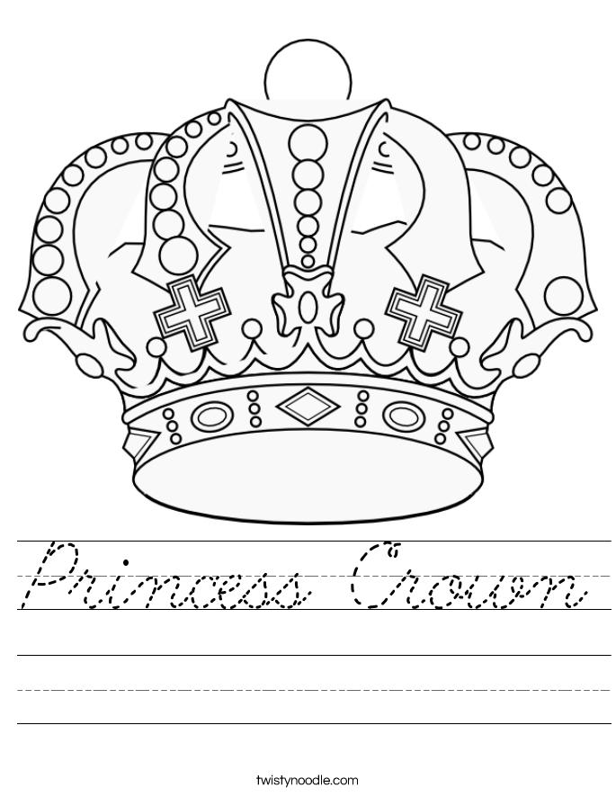 Princess Crown Worksheet