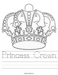 Princess Crown Worksheet