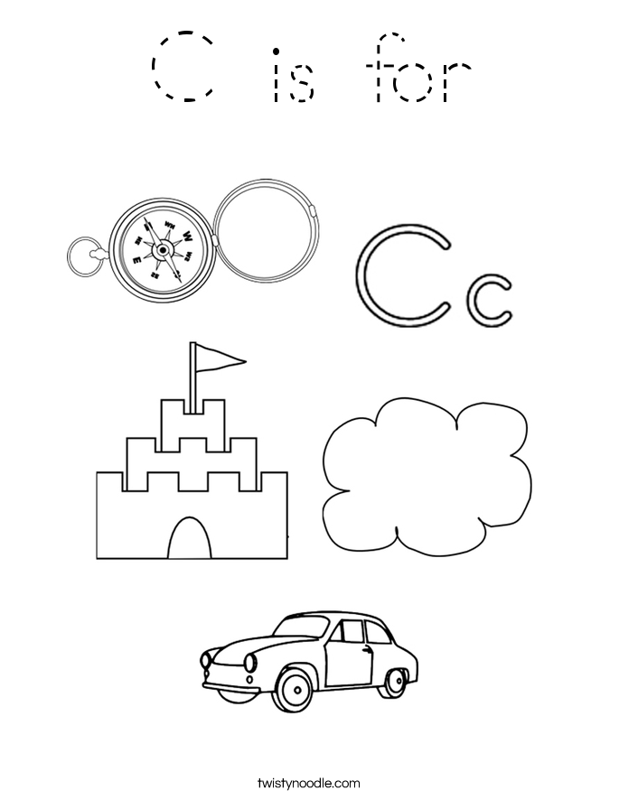 C is for Coloring Page
