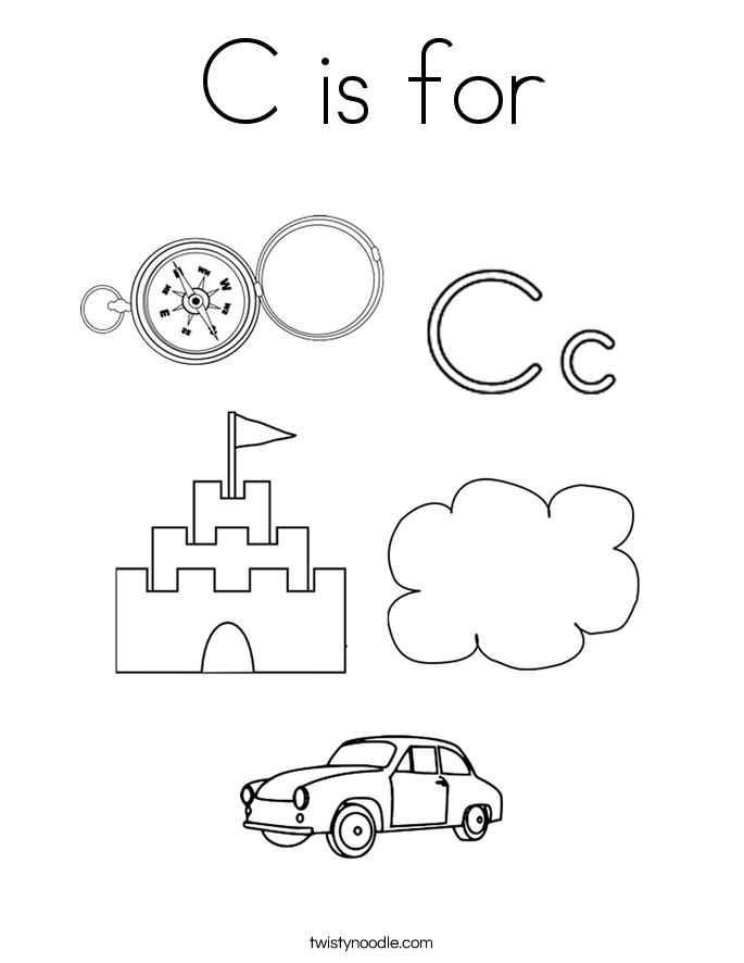 c is for coloring page - C Coloring Sheet