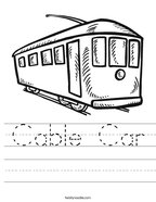 Cable Car Handwriting Sheet