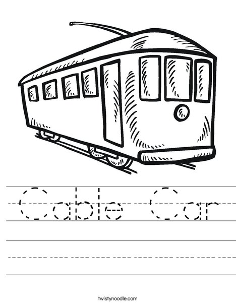 Cable Car Worksheet