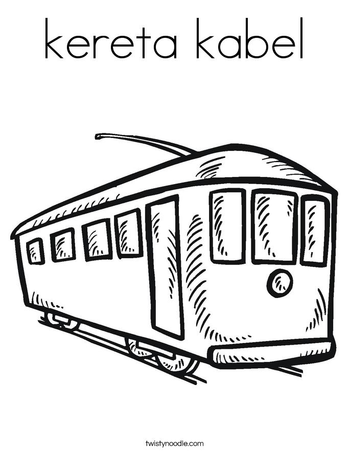 kereta kabel Coloring Page