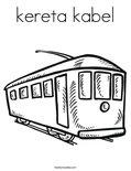 kereta kabelColoring Page