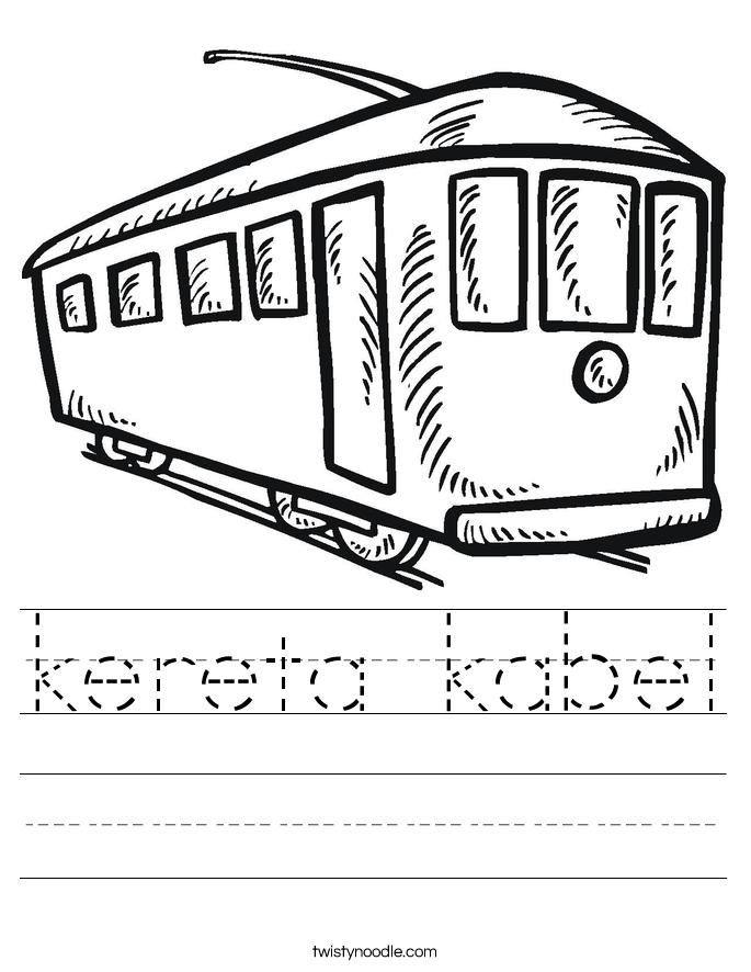 kereta kabel Worksheet