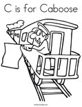 C is for Caboose Coloring Page