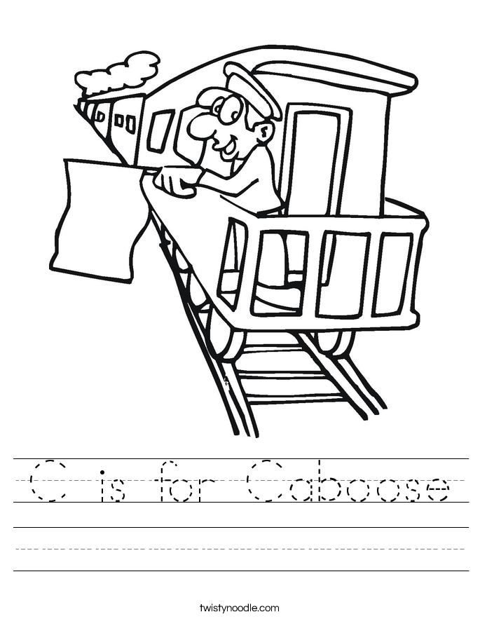 C is for Caboose Worksheet