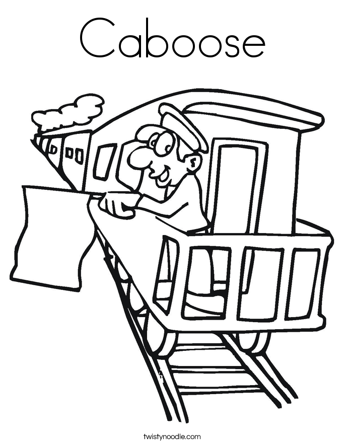 train caboose coloring pages printable - photo#20