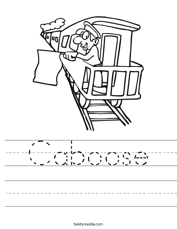 Caboose Worksheet - Tw...