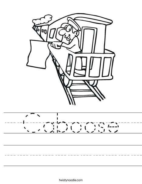 Caboose Worksheet