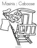 Masinis : Caboose Coloring Page