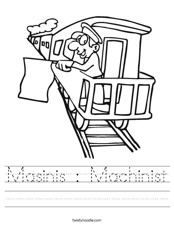Masinis : Machinist Worksheet
