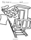 My train is _______ and _____.Coloring Page