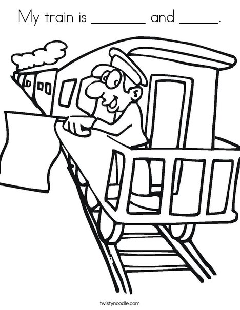 Train conductor colouring pages page 2 for Amtrak coloring pages
