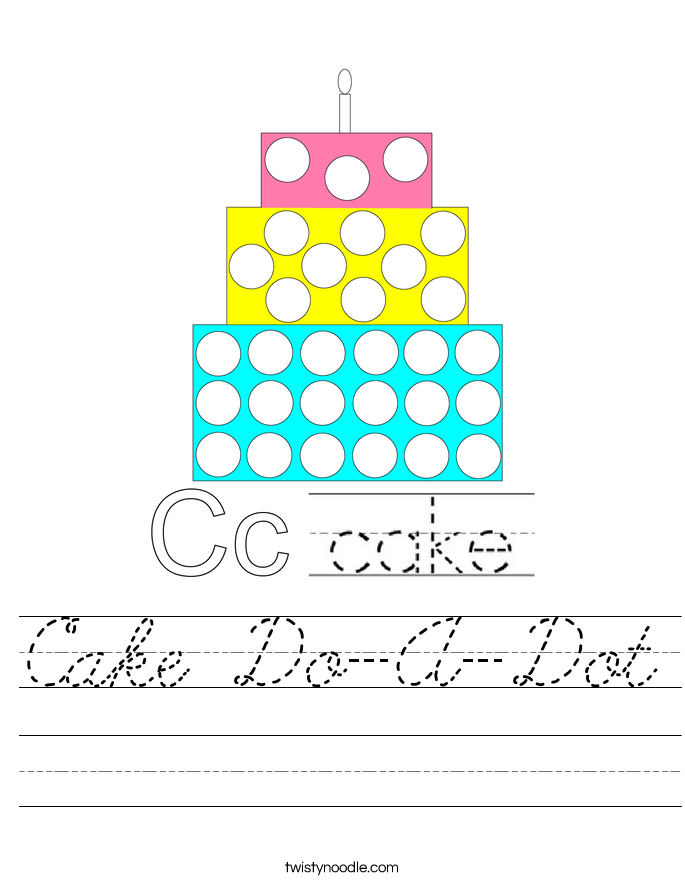 Cake Do-A-Dot Worksheet