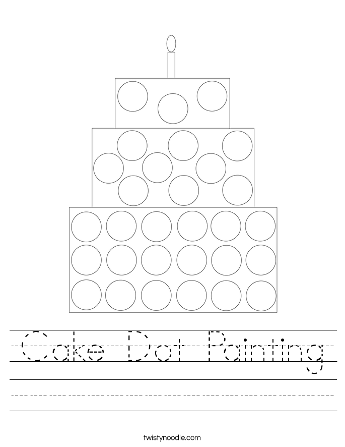 Cake Dot Painting Worksheet