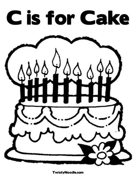 c is for cookie printable coloring pages - photo #15