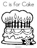 C is for CakeColoring Page