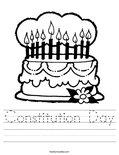 Constitution Day Worksheet