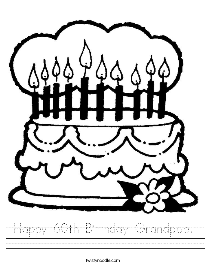 Happy 60th Birthday Grandpop! Worksheet