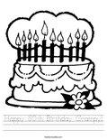 Happy 80th Birthday Grampy! Worksheet