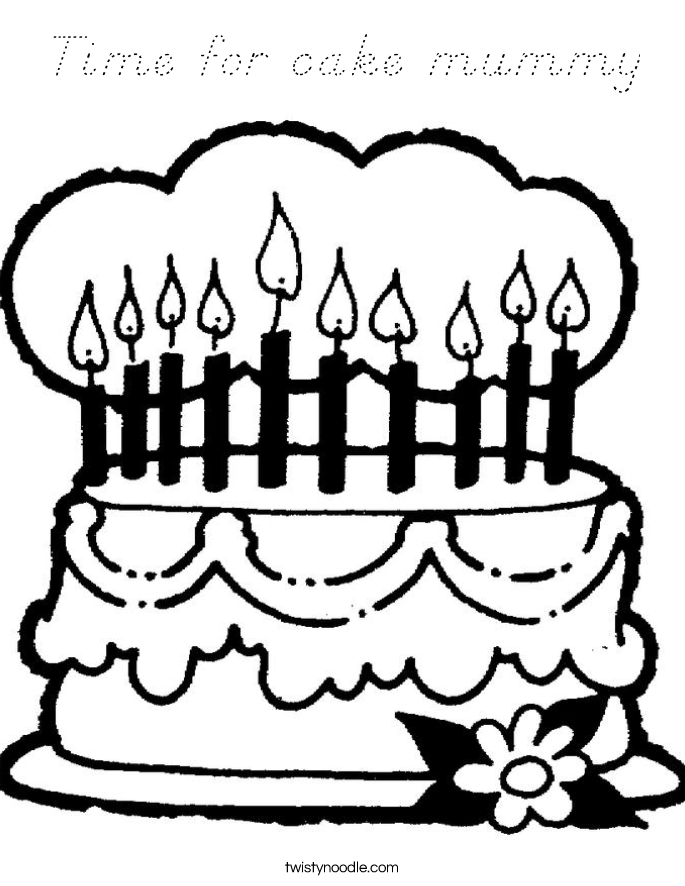 Time for cake mummy Coloring Page
