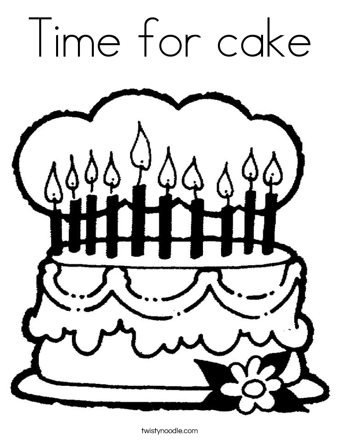 Time for cake Coloring Page