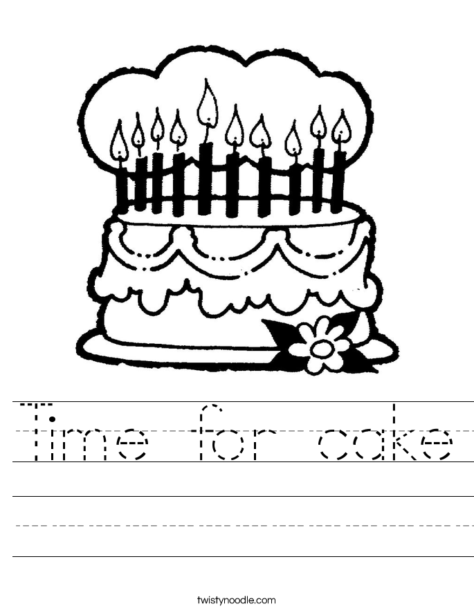 Time for cake Worksheet