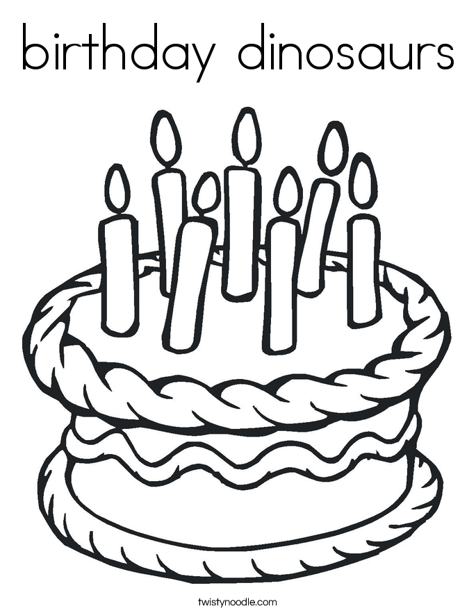 birthday dinosaurs Coloring Page