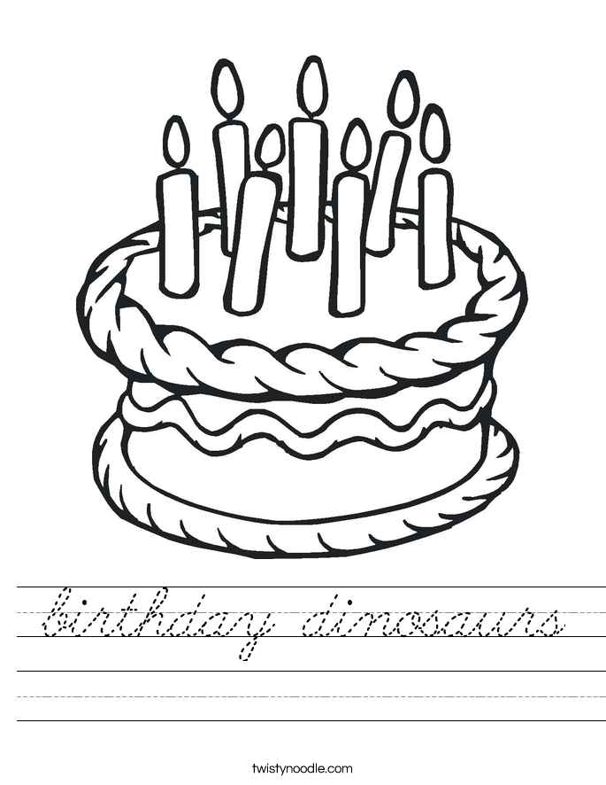 birthday dinosaurs Worksheet