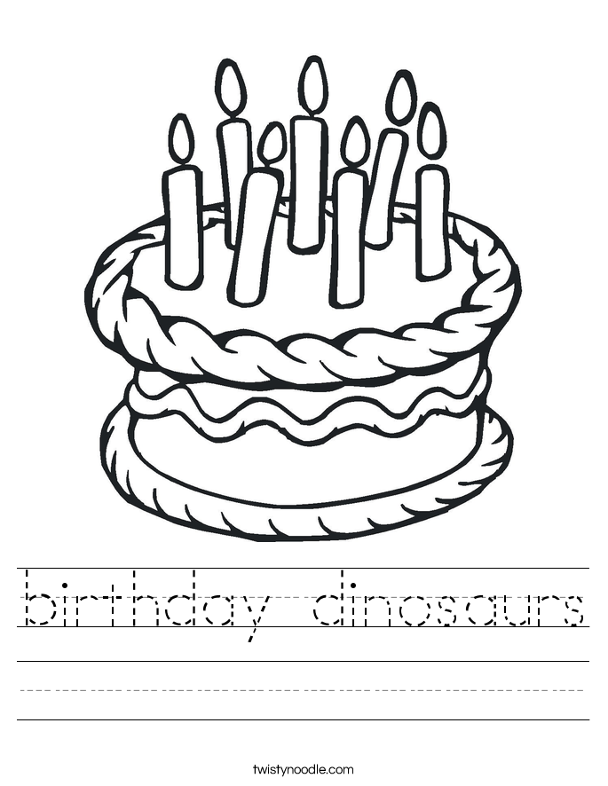 birthday dinosaurs Worksheet