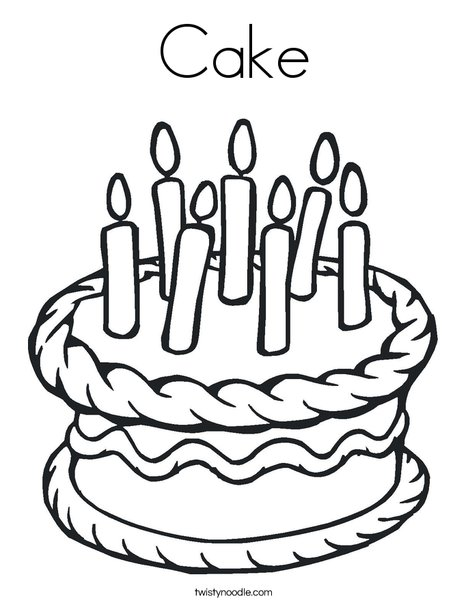 cake food coloring pages - photo#45