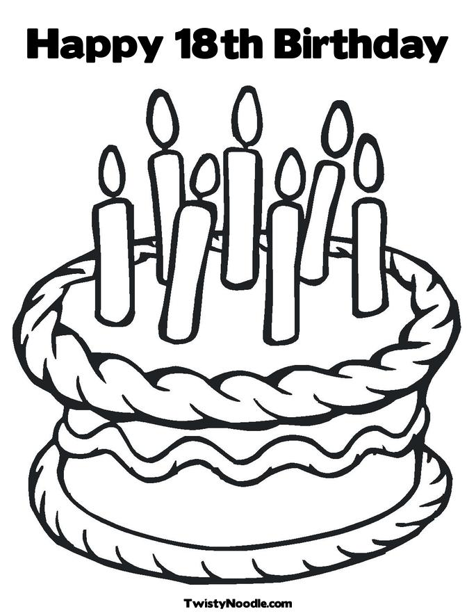 Birthday Coloring Pictures Happy Birthday Cake Coloring Pages